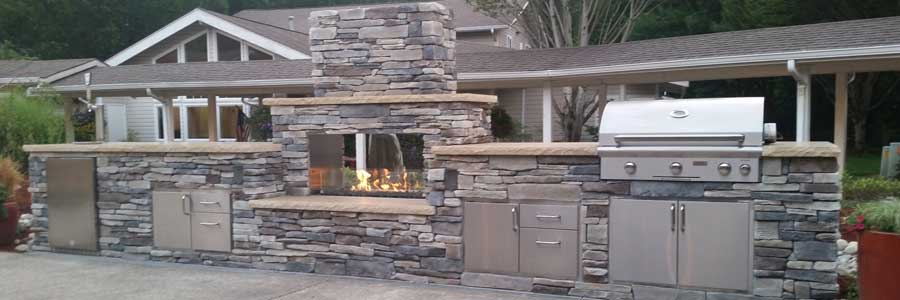 Graysen Woods Outdoor Kitchen Islands, Fire Pits, Fireplaces, Hearth Pads